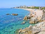 Costa Brava, pobřeží města Castell-Platja d'Aro