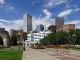 Denver, pohled na centrum z Civic Parku