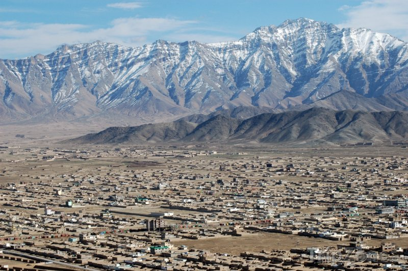 Fotka, Foto Kábul, panorama města s pohořím Asmai