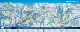 Mapa lyžařského střediska Adelbolden