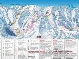 Mapa lyžařského střediska Andermatt