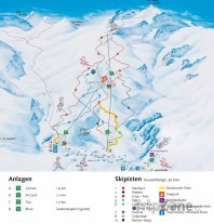 Mapa lyžařského střediska Bivio