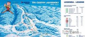 Mapa lyžařského střediska Čertov