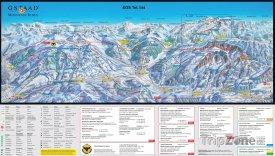 Mapa lyžařského střediska Chateau d'Oex