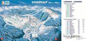 Mapa lyžařského střediska Donovaly