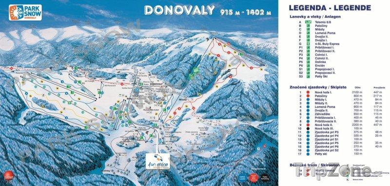 Fotka, Foto Mapa lyžařského střediska Donovaly