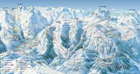 Mapa lyžařského střediska Espace Lumière