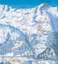 Mapa lyžařského střediska Evolene