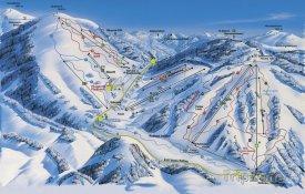 Mapa lyžařského střediska Feldberg