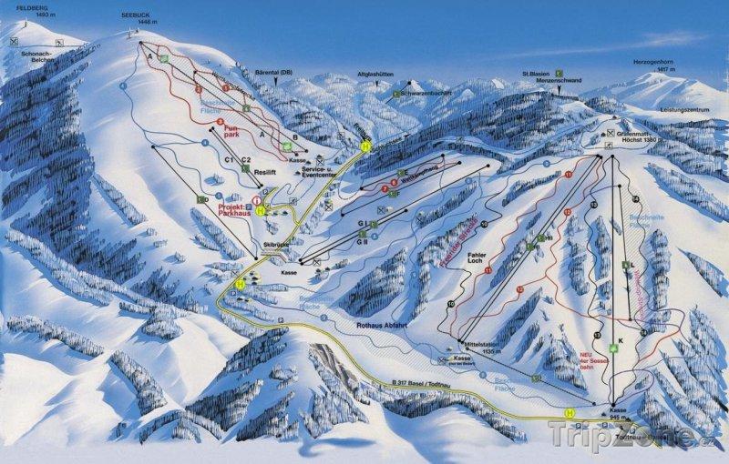 Fotka, Foto Mapa lyžařského střediska Feldberg