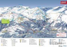 Mapa lyžařského střediska Flims-Laax-Falera