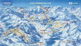 Mapa lyžařského střediska Gastein