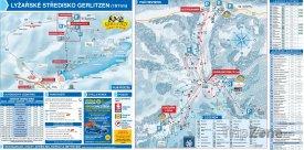 Mapa lyžařského střediska Gerlitzen