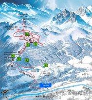 Mapa lyžařského střediska Glungezer
