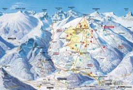 Mapa lyžařského střediska Golm