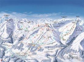 Mapa lyžařského střediska Grossglockner-Heiligenblut