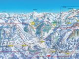 Mapa lyžařského střediska Gstaad