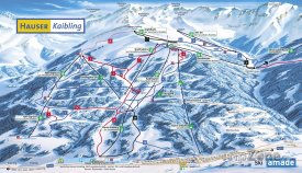 Mapa lyžařského střediska Hauser Kaibling