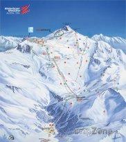 Mapa lyžařského střediska Hintertux