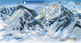 Mapa lyžařského střediska Hochficht