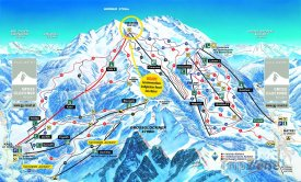 Mapa lyžařského střediska Kals