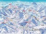 Mapa lyžařského střediska Kitzbühel