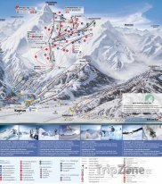 Mapa lyžařského střediska Kitzsteinhorn