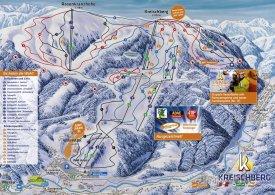 Mapa lyžařského střediska Kreischberg