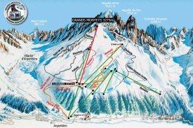Mapa lyžařského střediska Les Grands Montets