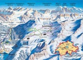 Mapa lyžařského střediska Lungern - Schönbüel
