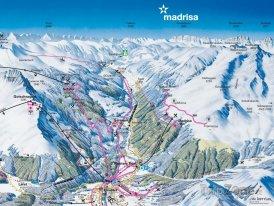 Mapa lyžařského střediska Madrisa