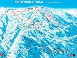 Mapa lyžařského střediska Martinky