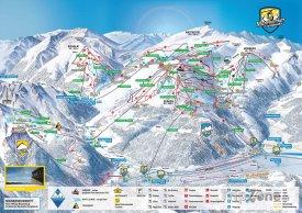 Mapa lyžařského střediska Mayrhofen