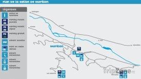 Mapa lyžařského střediska Morillon