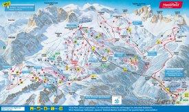 Mapa lyžařského střediska Nassfeld
