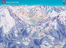 Mapa lyžařského střediska Ötztal