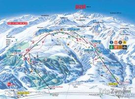 Mapa lyžařského střediska Pizol - Bad Ragaz - Wangs