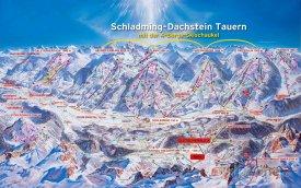Mapa lyžařského střediska Schladming