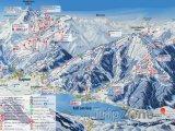 Mapa lyžařského střediska Schmittenhöhe