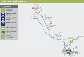 Mapa lyžařského střediska Sixt Fer à Cheval