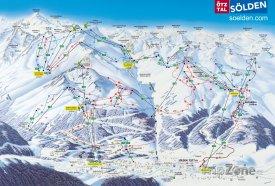Mapa lyžařského střediska Sölden