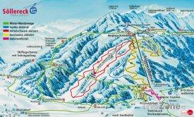 Mapa lyžařského střediska Söllereck