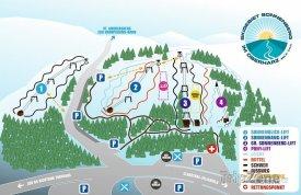Mapa lyžařského střediska Sonnenberg