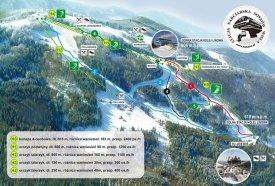 Mapa lyžařského střediska Soszów