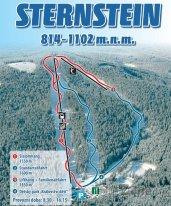 Mapa lyžařského střediska Sternstein