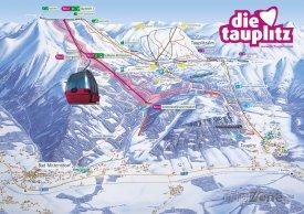 Mapa lyžařského střediska Tauplitz