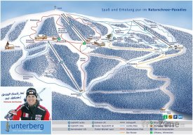 Mapa lyžařského střediska Unterberg