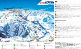Mapa lyžařského střediska Unterberghorn
