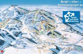 Mapa lyžařského střediska Winterberg