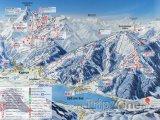 Mapa lyžařského střediska Zell am See-Kaprun